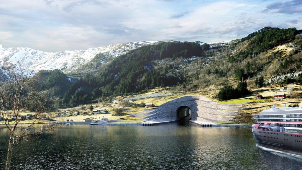 La costa oeste de Noruega albergará el primer túnel del mundo para barcos grandes: su construcción comenzará en 2022