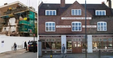 Este pub de Inglaterra debió ser reconstruido por las mismas personas que ordenaron su demolición