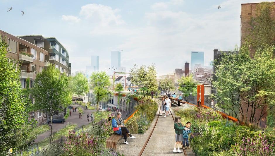 imagen Hofbogenpark Rotterdam estrenara Hofbogenpark un parque elevado al mejor estilo High Line para disfrutar del aire libre 2 1