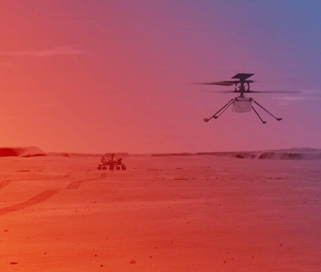 NASA compartió los detalles sobre el histórico vuelo de un helicóptero que se realizará en Marte