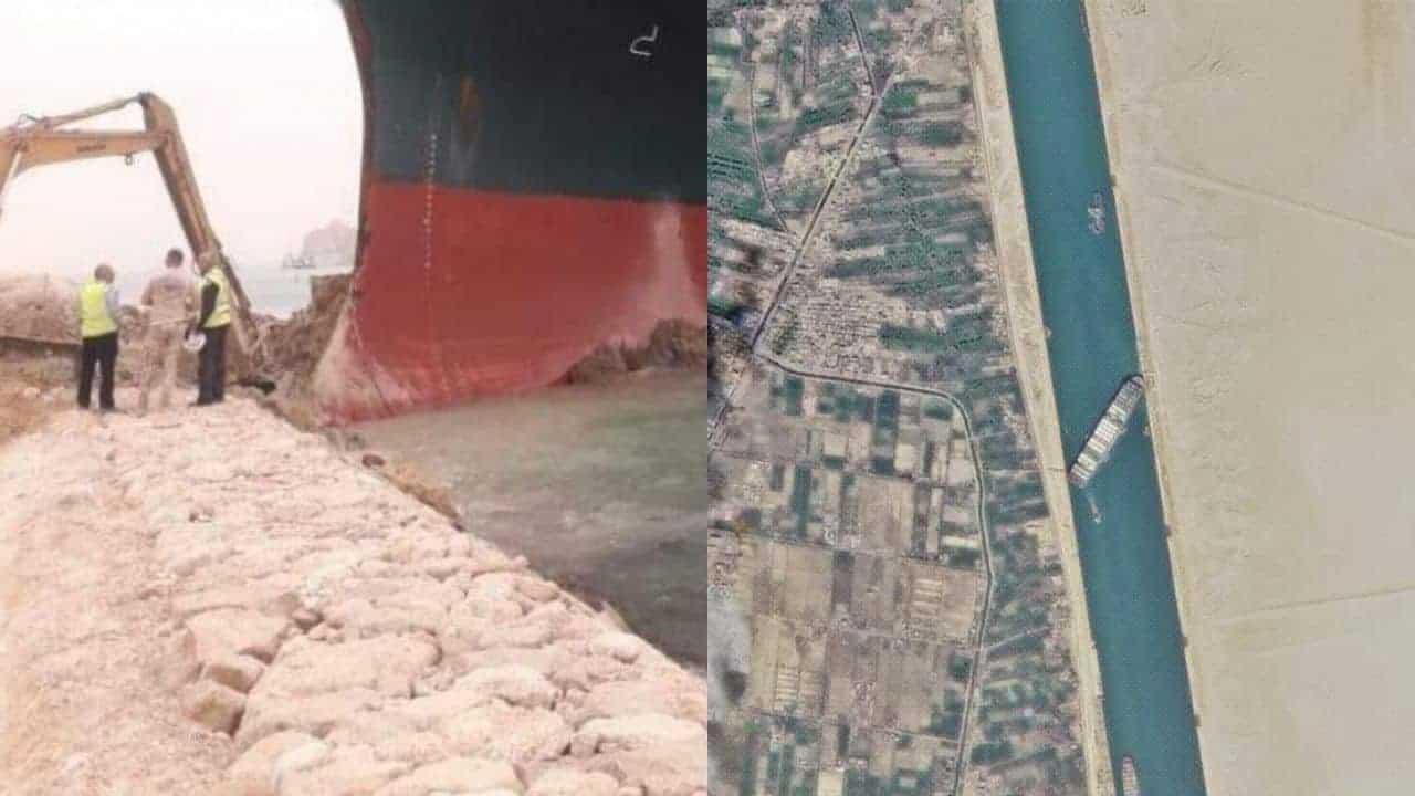 buque canal Suez atasco