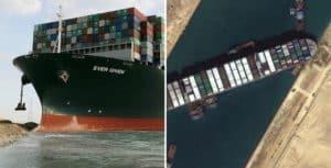 Lentamente están logrando mover el barco que quedó encallado y bloquea el canal de Suez