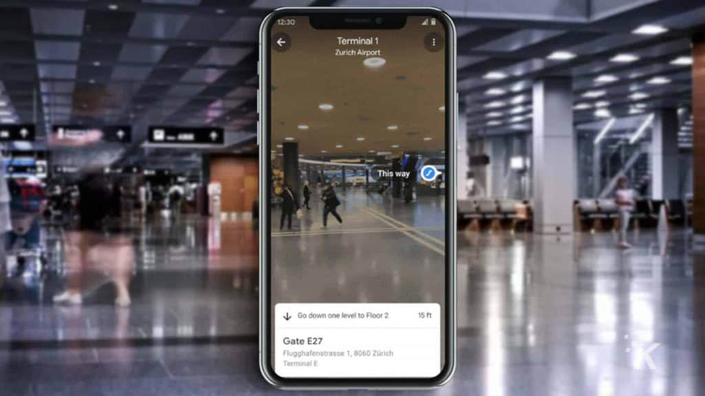 intriper google maps inside airport knowtechie