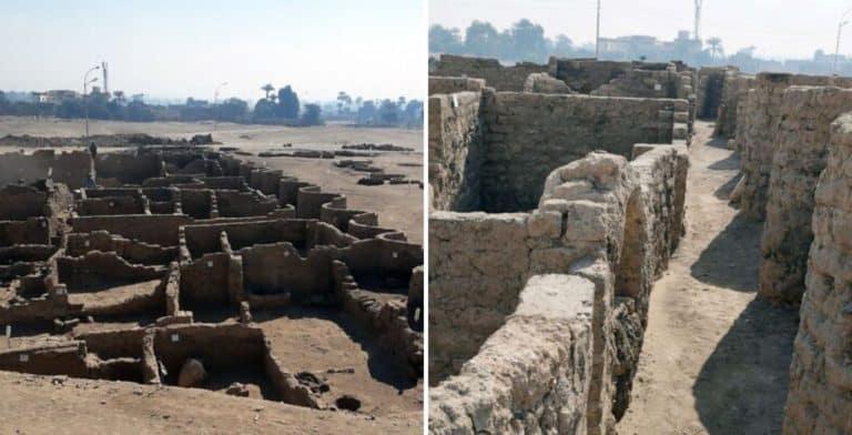 """Arqueólogos encontraron la """"Ciudad dorada perdida"""" de Luxor y tiene unos 3.000 años de antigüedad"""