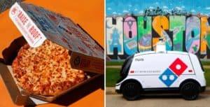 Domino's, la empresa de comida rápida, presentó a un robot que se encargará de su servicio de delivery