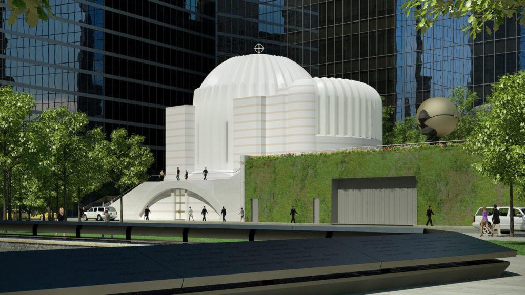 imagen iglesia ortodoxa frente al World Trade Center iglesia catedral san nicolas world trade center
