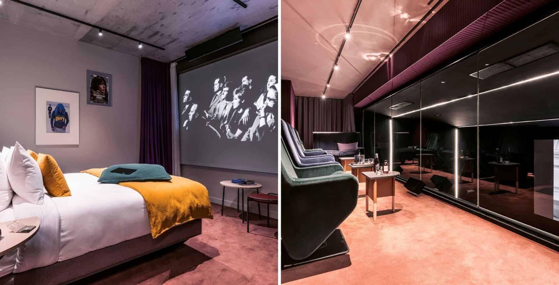 Hotel Paradiso es el primer cine-hotel del mundo y se encuentra en París