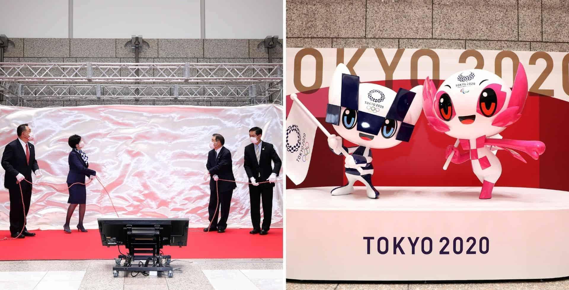 Presentaron las estatuas de las mascotas de los Juegos Olímpicos Tokio 2020