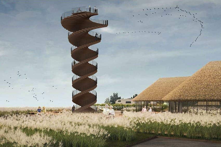 imagen Parque Nacional del Mar de Wadden Marsh Tower parque nacional Dinamarca 1