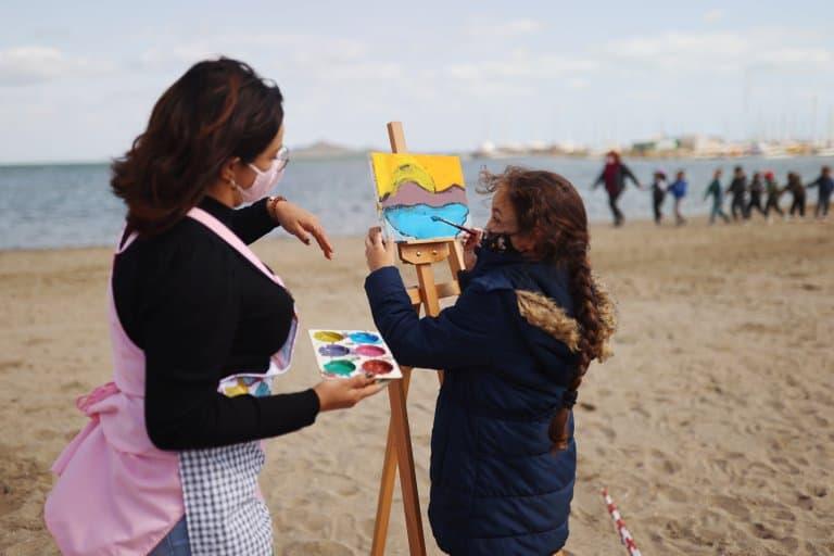 imagen clases en la playa escuela espana covid 19 aire libre 3