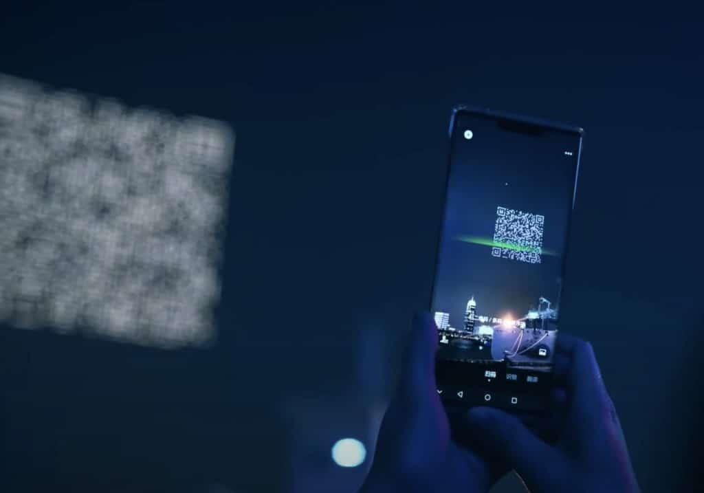 imagen código QR gigante en el cielo drones codigo qr gigante shangai china 3
