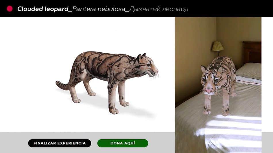 WWF ofrece la posibilidad de interactuar con especies que ya están extintas gracias a la realidad aumentada
