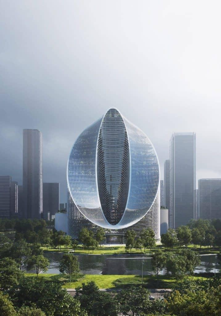 """Conoce """"Infinity Loop"""": una construcción futurista en forma de O que se levantará en Hangzhou, China"""