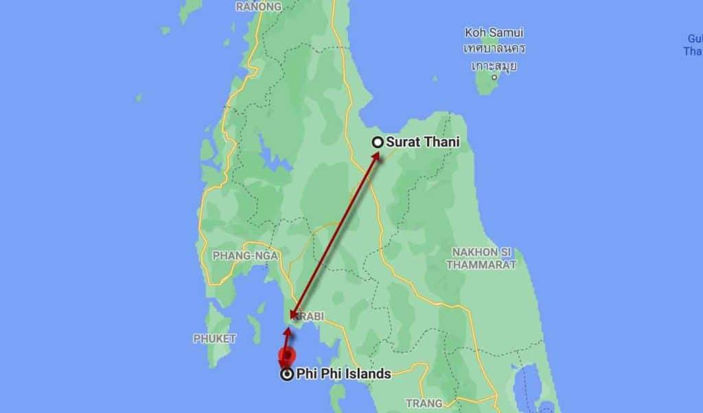 imagen Koh Phi Phi (Tailandia) desde surat thani a krabi y koh phi phi