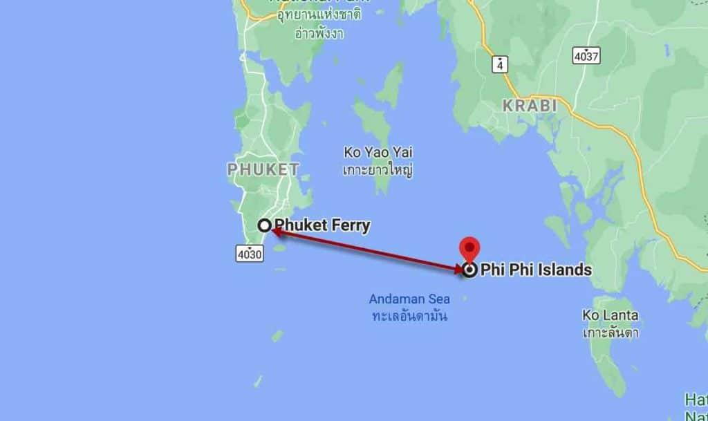 imagen Koh Phi Phi (Tailandia) phuket koh phi phi ferry trayecto