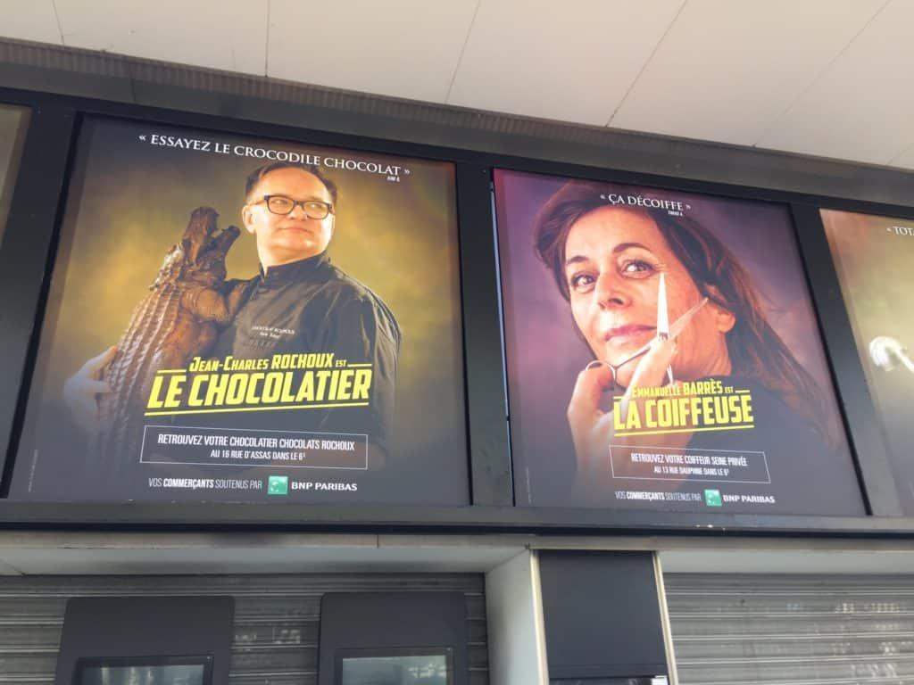 Cines de París reemplazan los afiches publicitarios de películas por anuncios para promocionar a los comercios de su barrio