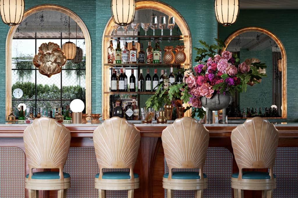 imagen hotel en Miami con vistas a la bahía de Biscayne bar interior the goodtime hotel GOODTIMEHOTEL1020