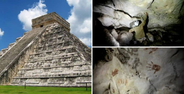 Un grupos de arqueólogos encontró en México una cueva con huellas de manos de hace más de 1.200 años