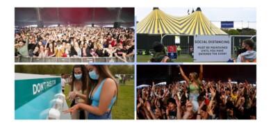 En Inglaterra se realizó el primer festival de música para unas 5.000 personas en tiempos de COVID-19