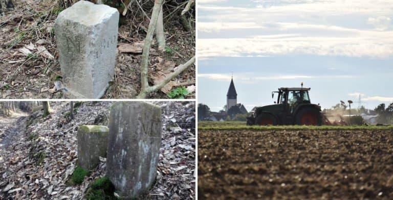 Un granjero de Bélgica movió una piedra que establece la frontera con Francia porque le molestaba para dar la vuelta con su tractor
