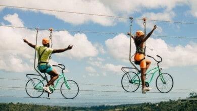 Bike-Wire-World-Record-at-TOROVERDE-Adventure-Park-Puerto-Rico