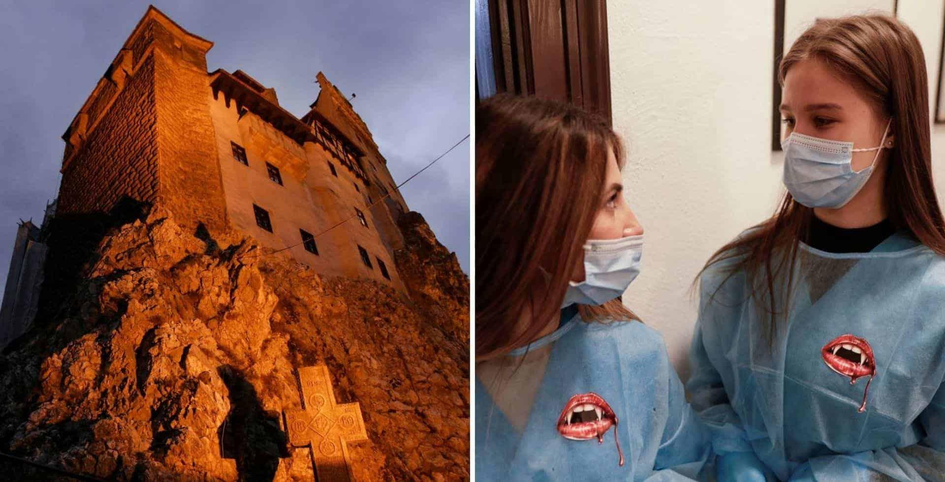 El castillo de Drácula, en Rumania, ofrece a sus visitantes la posibilidad de vacunarse contra el COVID-19
