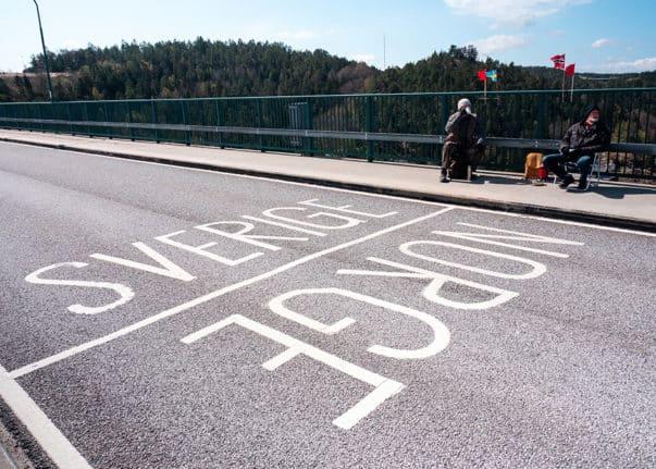 Frontera Que Separa Noruega Y Suecia
