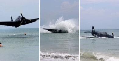 Un avión se estrelló a unos metros de una mujer embarazada que se encontraba haciendo una sesión de fotos