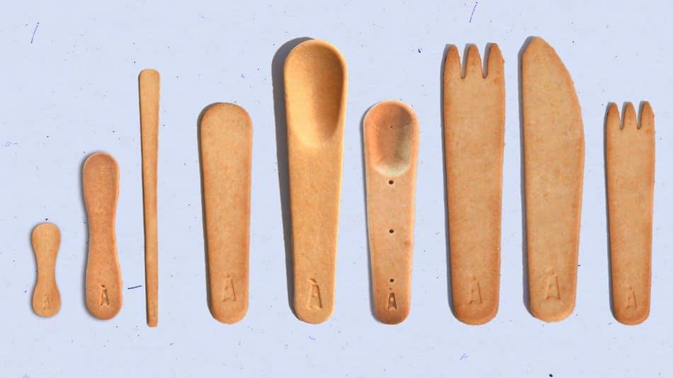 Crean Voilà, Una Firma De Cubiertos Comestibles Para Luchar Contra Los Plásticos De Un Solo Uso