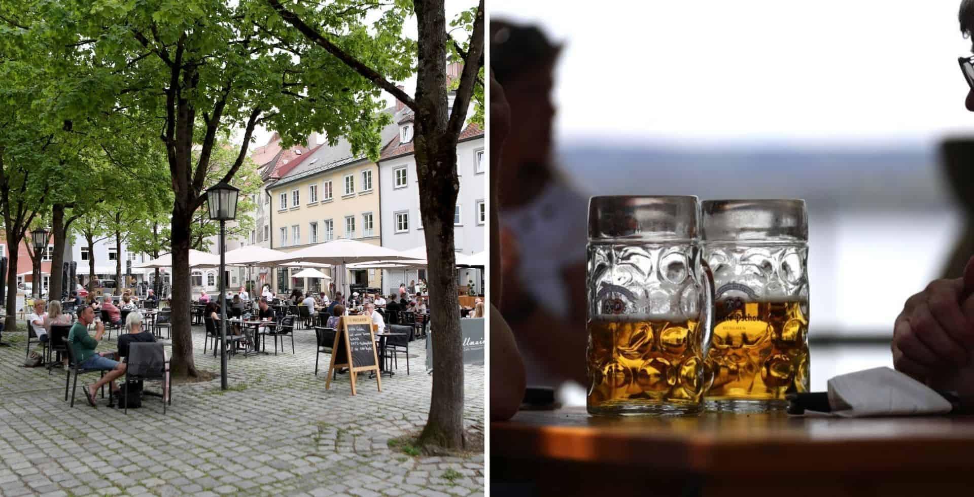 Reabren los Biergärten, los jardines cerveceros de Baviera vuelven a recibir al público