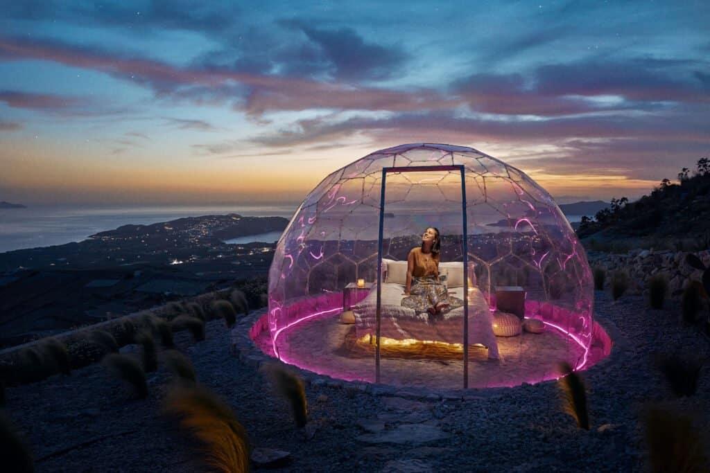 Burbuja En Santorini