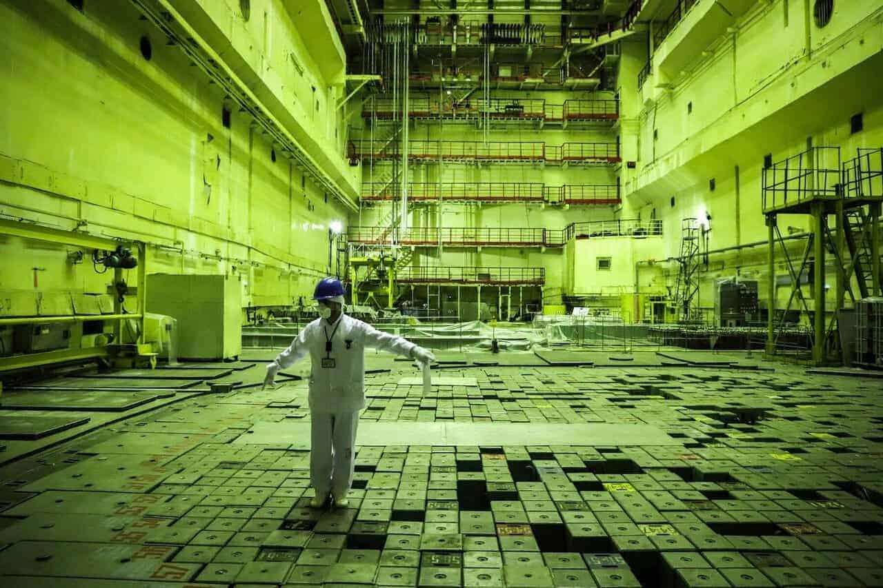 dentro del reactor de chernobyl