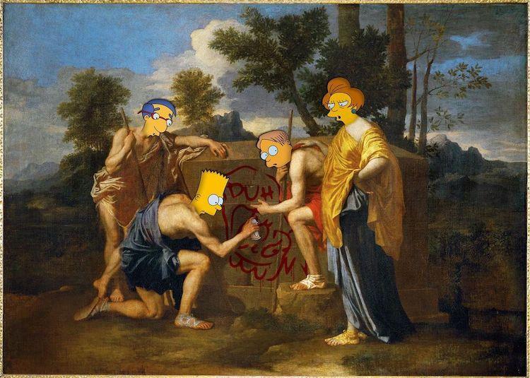 artista-reinventa-pinturas-famosas-elenco-de-Los-Simpson-1