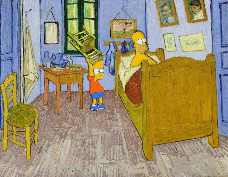 Un Artista Reinventa Pinturas Famosas Con El Peculiar Elenco De Los Simpson Y Los Resultados Son Increíbles