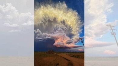 foto cielo tormenta texas