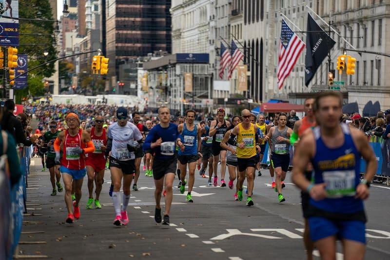 Corredores En El Maratón De La Ciudad De Nueva York