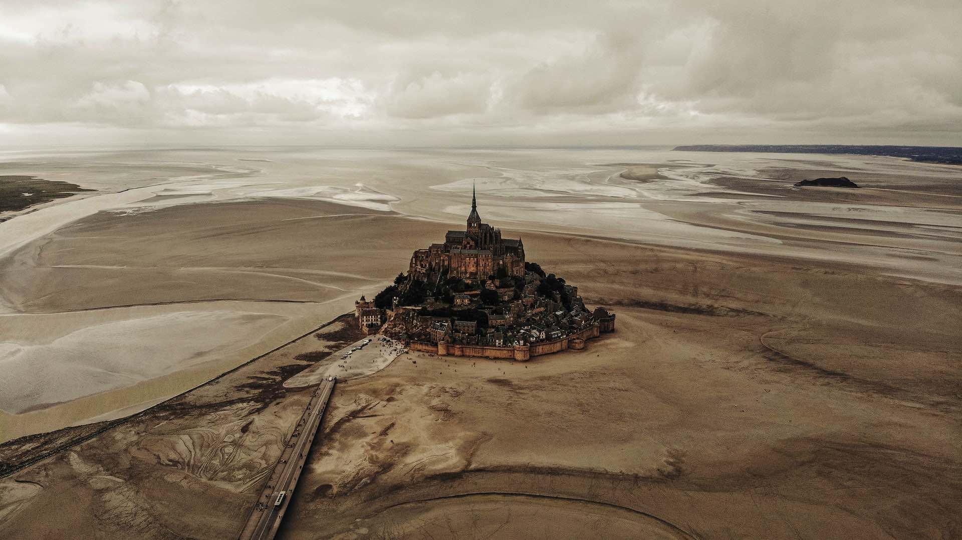 Mont Saint-Michel en invieno
