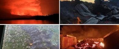 [FOTOS] Luego de 20 años entró en erupción el volcán Nyiragongo en la República Democrática del Congo y las imágenes son impactantes