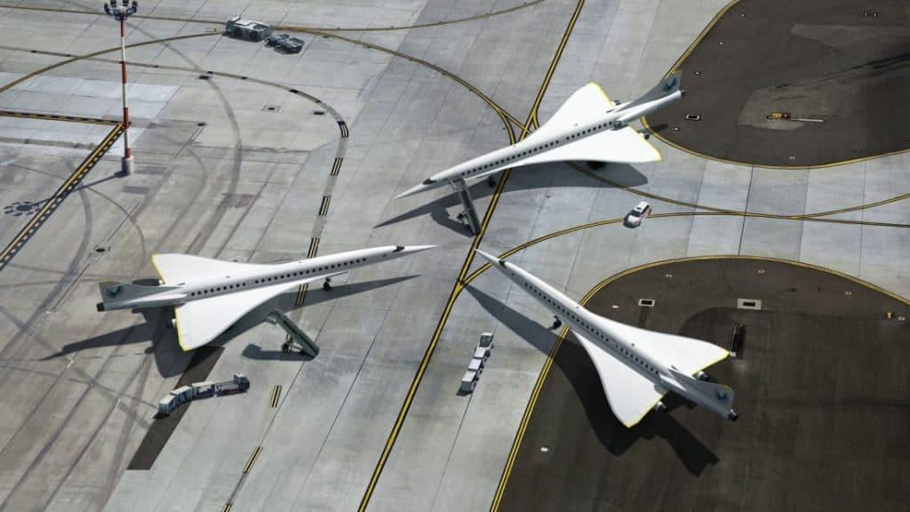 Tres naves de Boom Supersonic