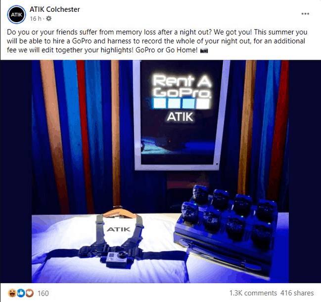Club Nocturno Ofrece Gopros