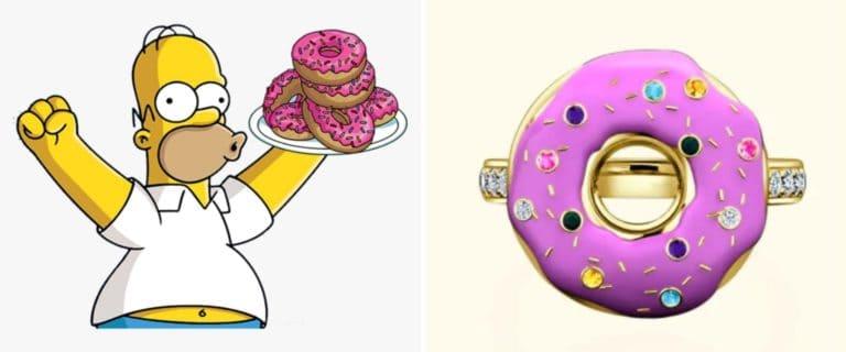 Una joyería diseñó el anillo de compromiso perfecto para cualquier persona fanática de Homero Simpson
