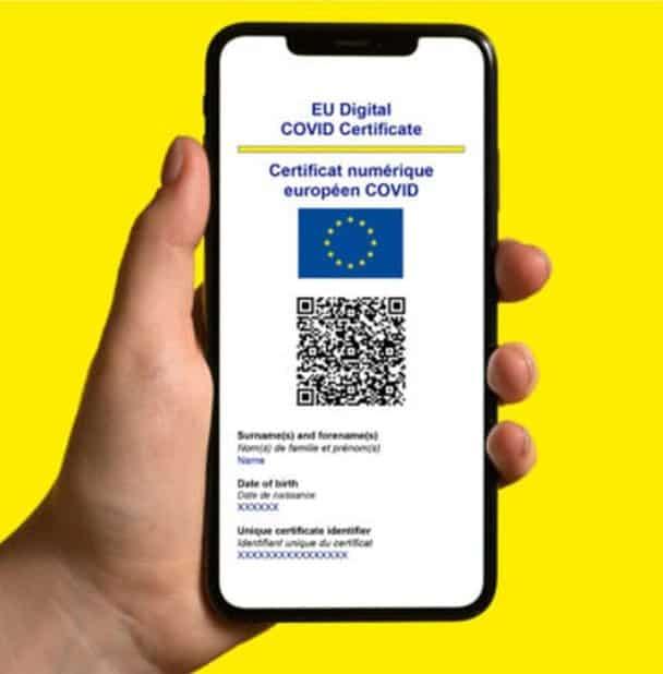 Certificado Digital De Covid-19 De La Unión Europea