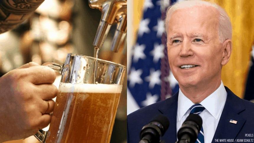 Biden regalará cerveza gratis