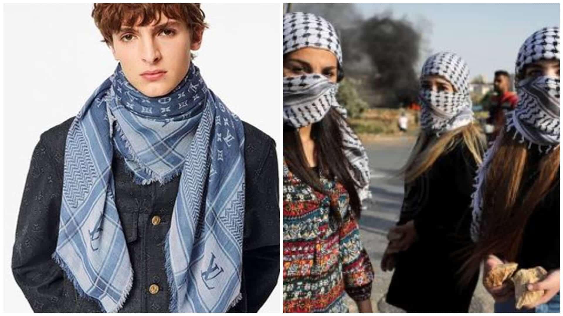 apropiación cultural por una bufanda palestina