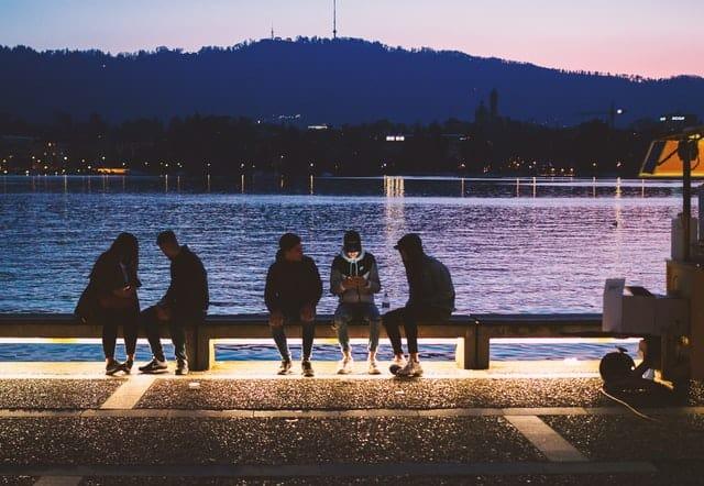 Grupo De Personas En Zúrich, Suiza