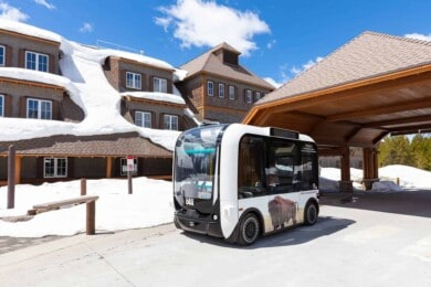 Estados Unidos: el Parque Nacional Yellowstone está probando vehículos autónomos para transportar a los visitantes