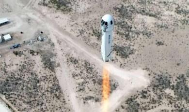 Una persona pagó 28 millones de dólares en una subasta para viajar al espacio con Jeff Bezos