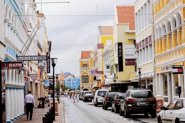 Calle De La Isla De Curazao