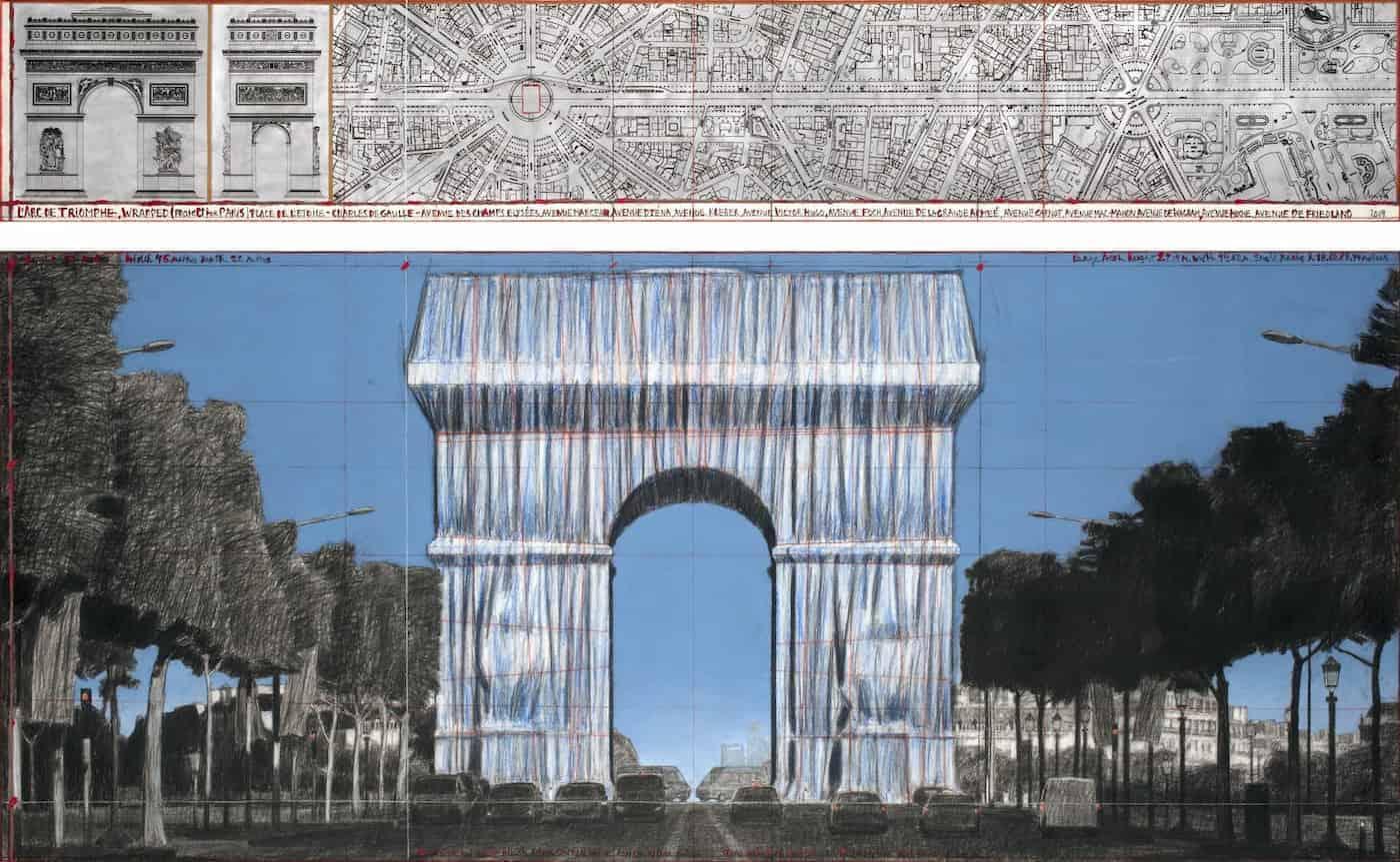 2021 será el año en el que el Arco de Triunfo de París se cubrirá en telas y cuerdas