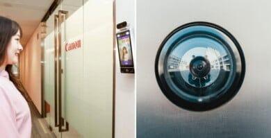 Sonreír a la cámara es necesario para poder ingresar a algunas salas de las oficinas de Canon, en China
